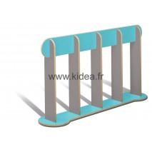 Barrière de délimitation bleue et grise - Hauteur 1 mètre
