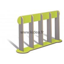 Barrière de délimitation verte et grise - Hauteur 1 mètre