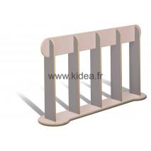 Barrière de délimitation gris clair et gris foncé - Hauteur 1 mètre