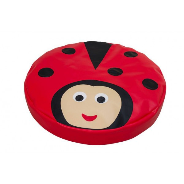 Grand coussin Coccinelle
