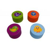 4 assises en mousse – Motifs oiseaux