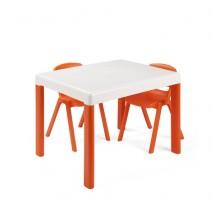 ENSEMBLE TABLE + 2 CHAISES POUR ENFANTS DE - DE 3 ANS