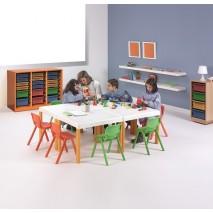 ENSEMBLE TABLE + 4 CHAISES POUR ENFANTS DE - DE 3 ANS