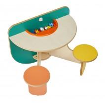 Table de jeux avec rangement Duo Colors