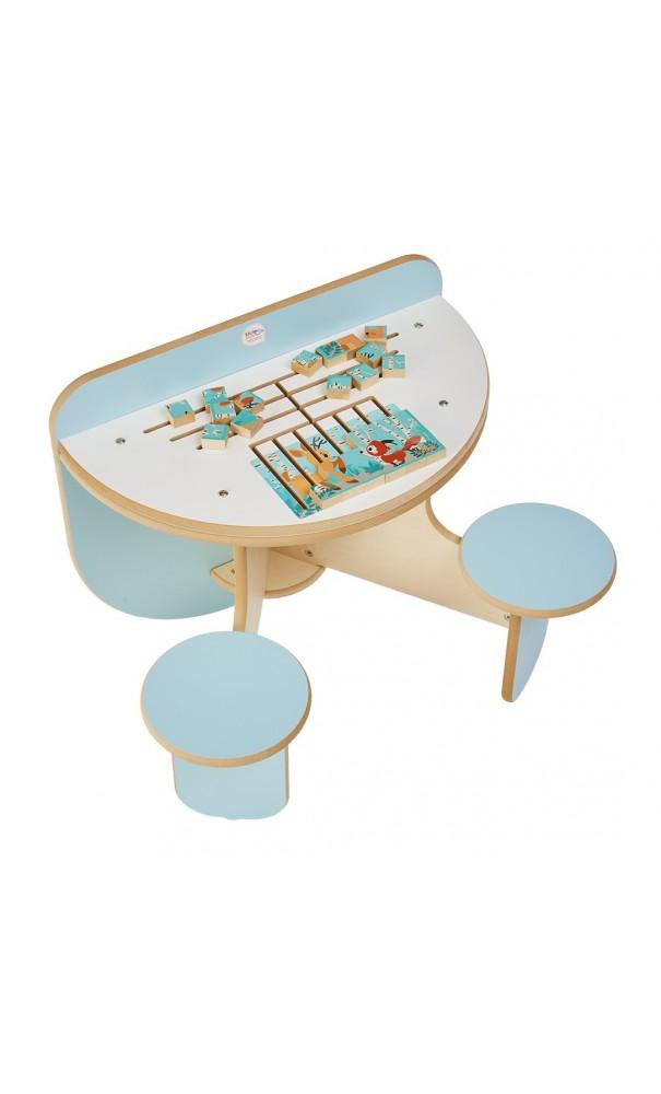 table d 39 activit duo puzzle for t kidea. Black Bedroom Furniture Sets. Home Design Ideas