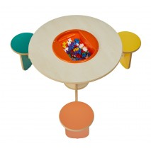 Table de jeux avec rangement Trio Colors