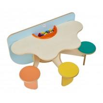 Table de jeux avec rangement Trèfle Colors
