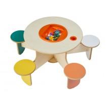 Table de jeux avec rangement Pento Colors