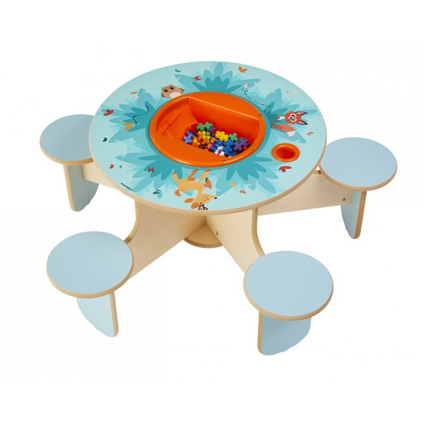 Table de jeux avec rangement Pento Forêt