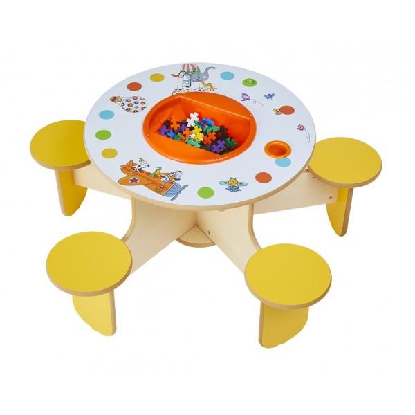 Table de jeux avec rangement Pento Sego