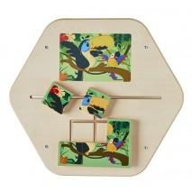 Jeu mural bois Mini Puzzle Rio