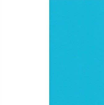 Piètement blanc et table turquoise