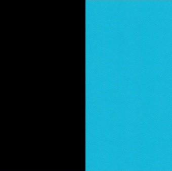 Piètement noir et table turquoise